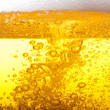 Bubbles in beer. — Stock Photo