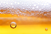 Foam on a light beer. — Stock Photo