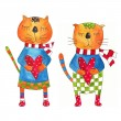 Couple of cats. Greeting card — Stock Photo #11306851