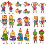 Animals. Set of cartoon characters — Stock Photo