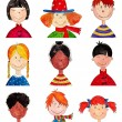 Children. Cartoon characters — Stock Photo