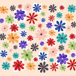Watercolors floral background — Stock Photo