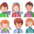Children's faces — Stock Photo