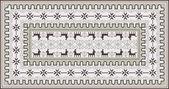 Stylish Ornamental Carpet Design — Stock Vector