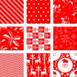 9 Christmas Repeating Patterns — Stock Vector