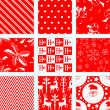 Stock Vector: 9 Christmas Repeating Patterns
