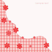 Floral Patterns Textures red for postcards — Stock Vector