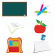 School icons for your cards or web sites — Stock Vector