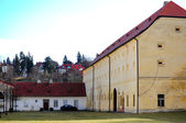 Old monastery courtyard in Prague — Stock Photo