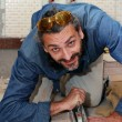 Tiler at work — Stock Photo #10763988