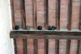 Barn swallow nests — Stock Photo
