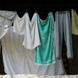 Hanging clothes — Stock Photo