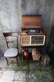 Vintage turntable Radio — Stock Photo
