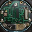 Clock integrated circuit macro — Stock Photo