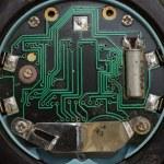 Clock integrated circuit macro — Stock Photo