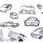 Sketch Car set — Stock Photo #11117056