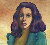 Portret zmysłowej kobiety — Zdjęcie stockowe