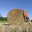 Rural bucolic suntan — Stock Photo