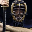 Closeup of  kendo man — Stock Photo