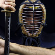Stock Photo: Closeup of kendo man