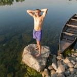 homem bonito sem camisa — Foto Stock
