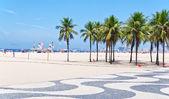 Playa de copacabana en rio de janeiro — Foto de Stock