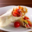 Chicken fajita tortilla wrap sandwich — Stock Photo