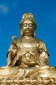 Golden Statue of Guan Yin — Stock Photo