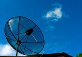 Black satellite dish — Stock Photo
