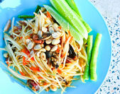 Green papaya salad with crab — Stok fotoğraf