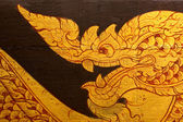 Traditional Thai style painting on barge — Foto Stock