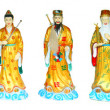 The Eight Immortals Isolated — Stock Photo