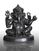 Bronze statuette of hindu God Ganesha — Stock Photo