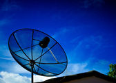 Black satellite dish — Stock Photo