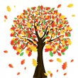 Autumn tree for your design - Imagen vectorial