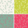 Royalty-Free Stock Vector Image: Stylish floral background, set