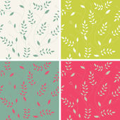 Stylish floral background, set — Stock Vector