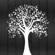 White tree - Stock Vector
