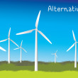 Stock Vector: Power Generating Windmills