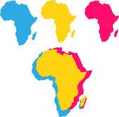 Sfondo vettoriale con silhouette mappa africa — Vettoriale Stock