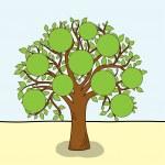 Family tree, vector — Stock Vector