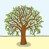 Karta s stylizovaný strom — Stock vektor