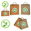 Bag with the sign of recycling. — Stock Vector