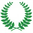 Green laurel wreath isolated, vector - Stock Vector