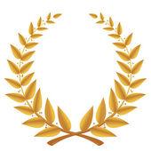 Gold laurel wreath isolated, vector — Stock Vector