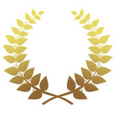 Gold laurel wreath isolated, vector — Stock Vector