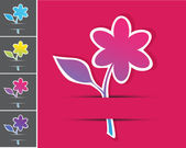 Vector set of floral cards. — Stock Vector