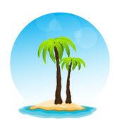 Paradise island, vector — Stock Vector