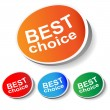 "Sticker ""best choice"" - Stock Vector"