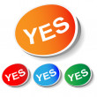 "Label ""Yes"" - Stock Vector"